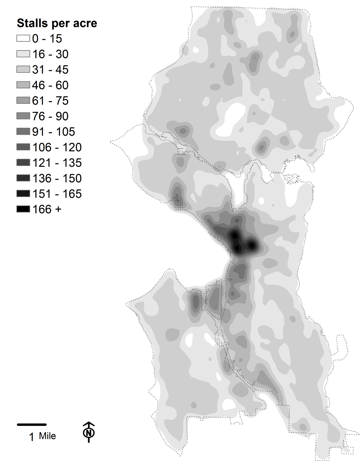 High-resolution map of parking density in Seattle