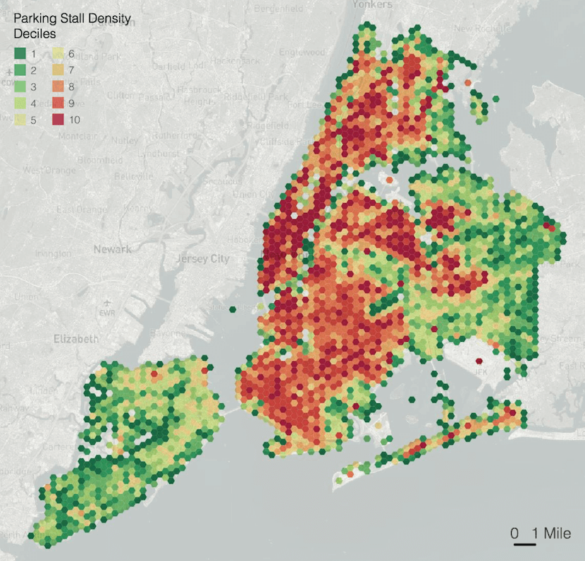 Heatmap of parking in New York